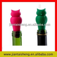 Food grade silicone owl shape wine cork stoppers