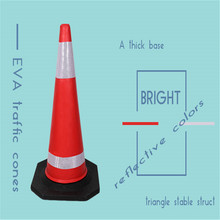 Road Safety Red Reflective Plastic Traffic Safety Cones
