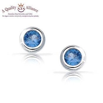 Best Brand Oem Blue Earring Studs Men Ear Stud Earrings Jewelry
