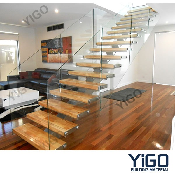 Mono Stringer Wood Steel Staircase 9001 10 Buy Stainless
