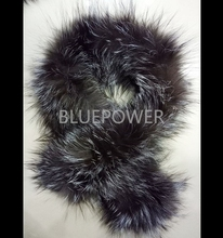 Wholesale knitted silver fox fur scarf TD2295