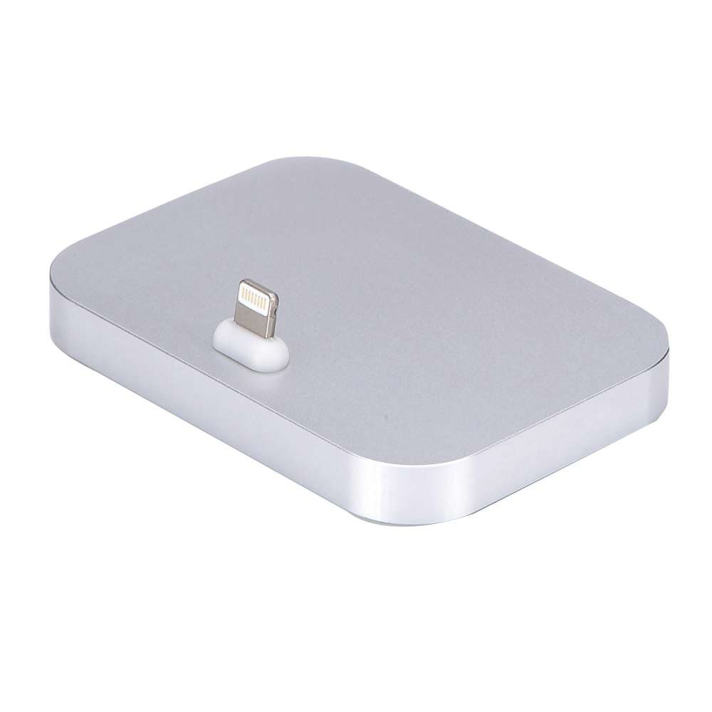 iPhone Dock,COTEetCI Aluminum Lightning Charging Dock for Apple iPhone 6 6S Plus 5 5S (silver)