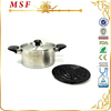 MSF-3049 18 10 stainless steel cookware super capsule bottom stainless steel cookware set with heat resistant bakelite handle
