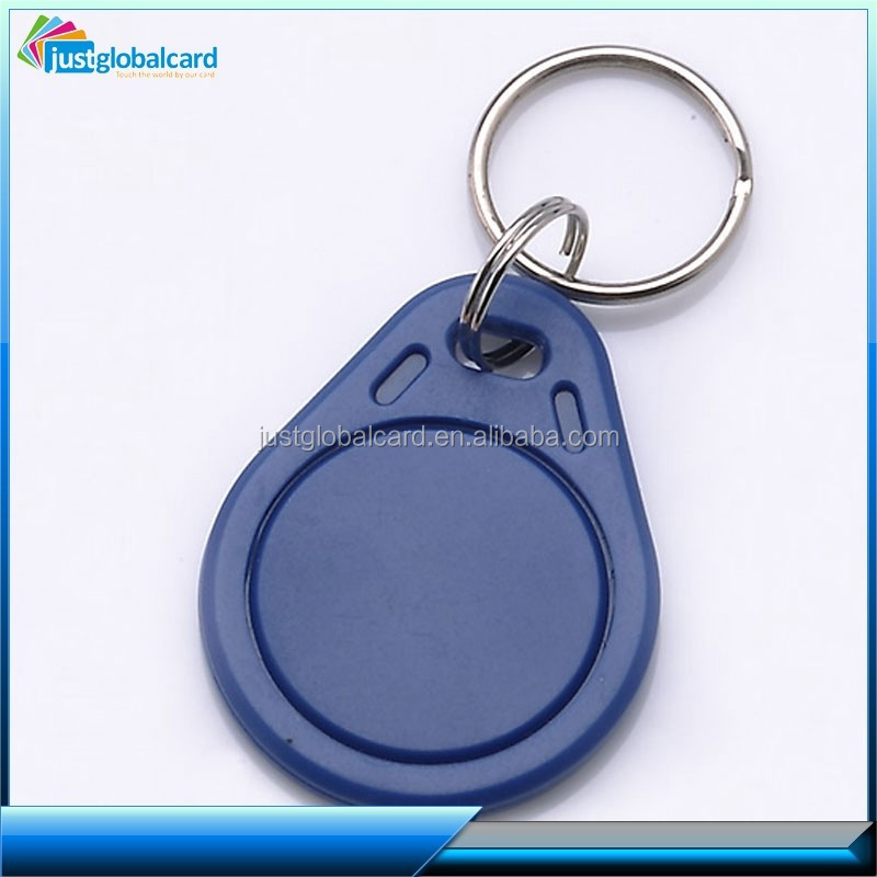 ISO standard ABS material writable T5577 smart rfid keyfob or key tag