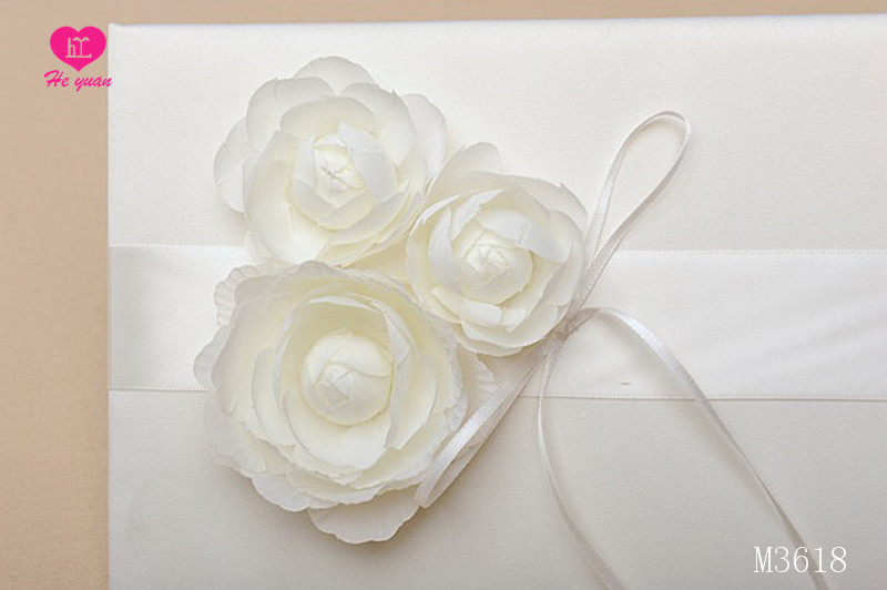 M3618 The Wholesale Wedding Guest Book with Beautiful Artificial Flowers