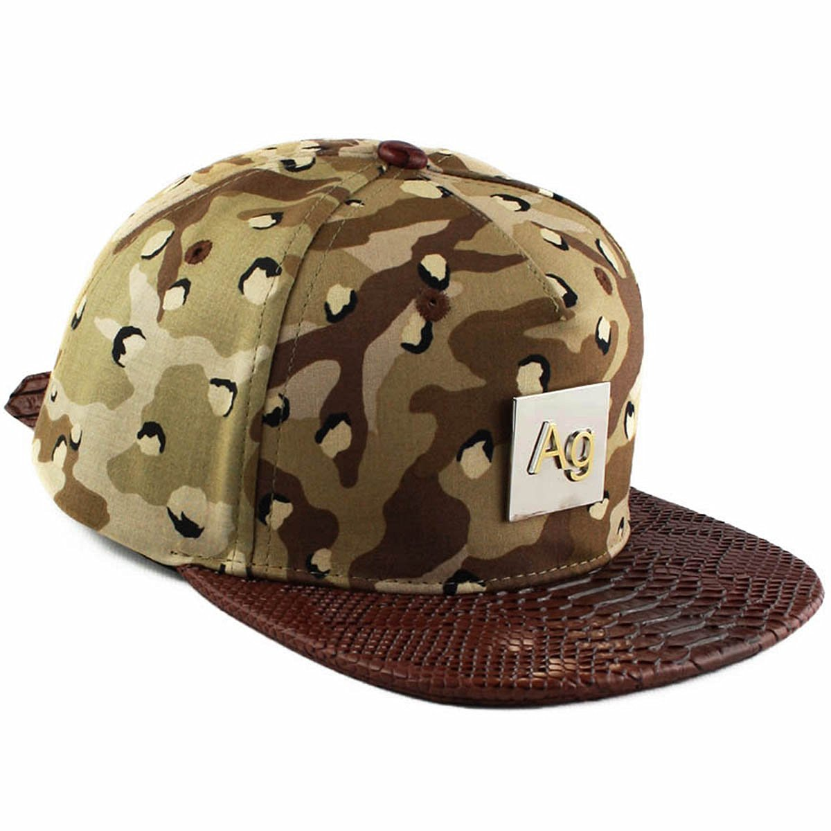 663aa52d959 Buy Agora Egyptian Snakeskin Silver Strapback Hat in Cheap Price on ...