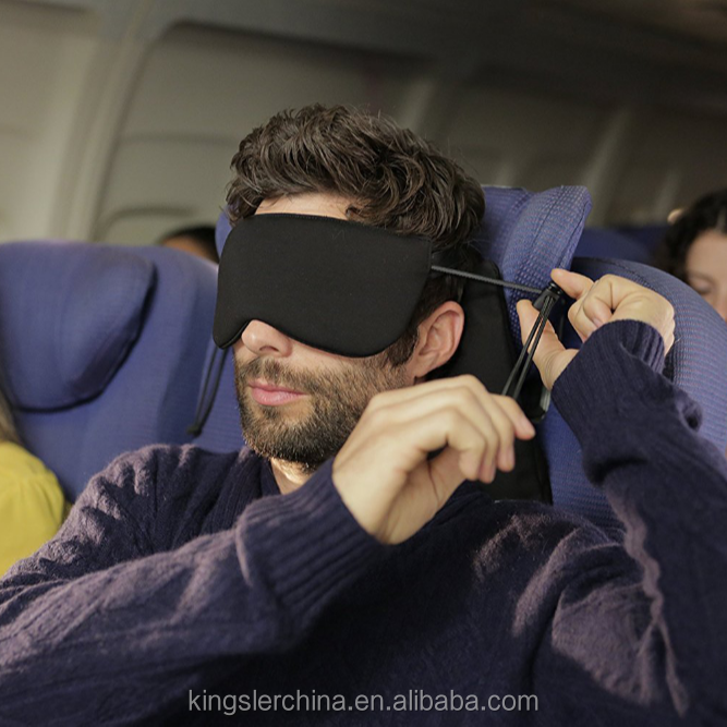 Travel Pillow - Sleep Mask and Memory Foam Pillow that Prevents Head Bobbing During Road and Air Travel