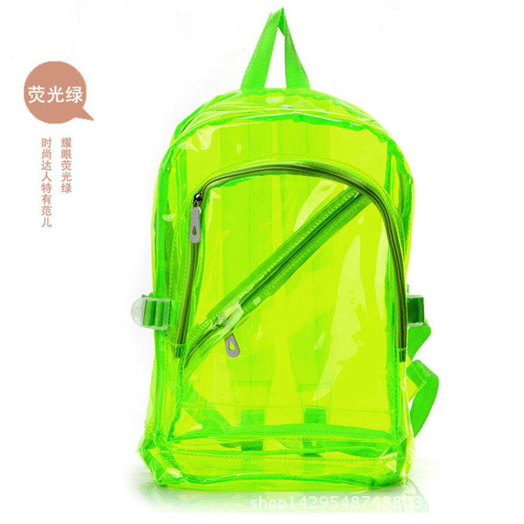 fashion jelly transparent waterproof beach backpack travel summer cool women's  backpack student school bag crystal jelly bag
