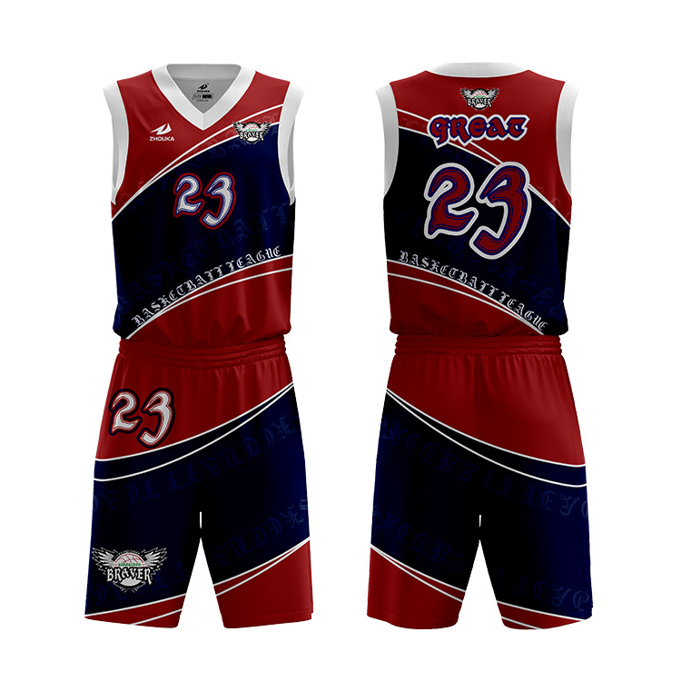 2266592fcf7 China supplier customize sports dry fit latest basketball jerseys uniform  design color red personalized mens basketball kit