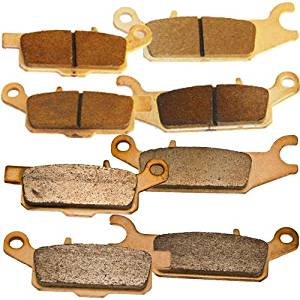 Front and Rear Sintered Brake Pads for Yamaha YFM 700 Grizzly Auto 4WD EPS 2007 2008 2009 2010 2011 2012 2013 2014 2015