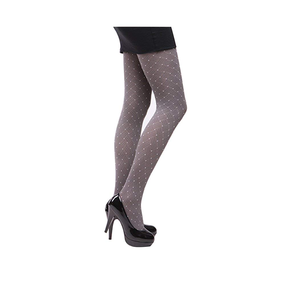 ee0a2419d70 Get Quotations · Tinksky Lady Stocking Velvet Pantyhose Panty Hose Dots  Tights for Women (Grey)