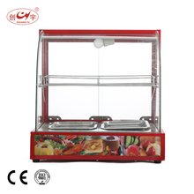 Chuangyu Quality Products Electric Display Food Warming Showcase With 2 Plate