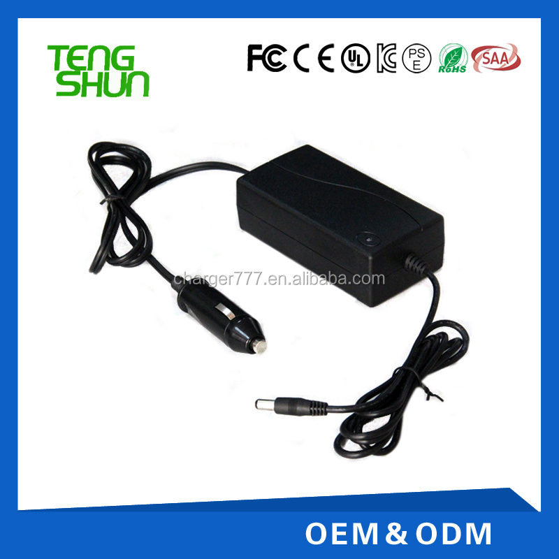 16.8v 29.4v 1.5a 2a dc to dc tablet car battery charger with lighter socket