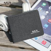 Mark Ryden Wholesale Unisex Designer Leather Canvas Cotton Wallet Card Holder Coin Purse Mens Slim Wallets MR5734