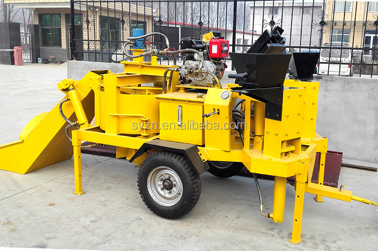 hydraulic M7MI TWIN clay interlocking brick making machine price/soil interlock brick machine in South Africa
