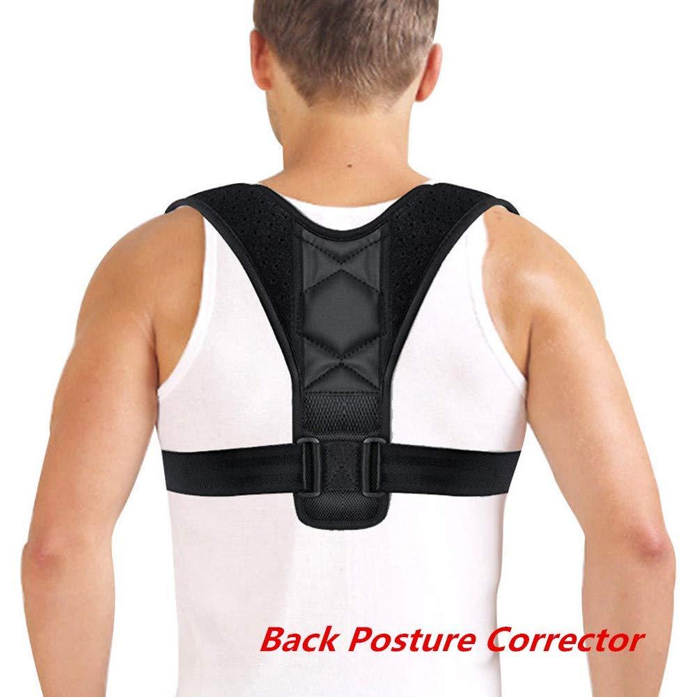 Fashionwu Adjustable Back Posture Corrector Clavicle Spine Back Shoulder Lumbar Brace Support Anti Humpback Correction Belt Posture Correction