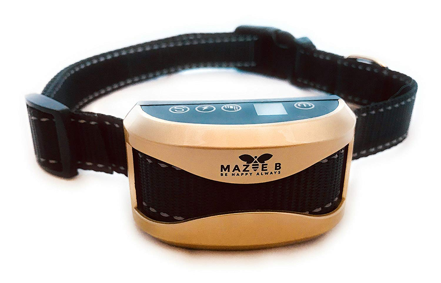 Mazie B Anti Bark Collar, Dog Barking Control Device,for dogs 10-120lbs, 2018 Highest Grade Electronics, No Harm Shock, FREE Training Guide with 3-week Training Plan