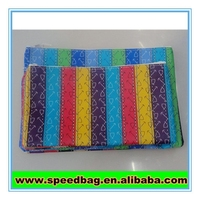 Rainbow colorful pouch Customized school pencil bag/printing stationery bag