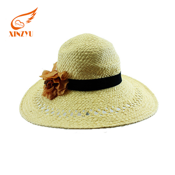Custom Your Own Design Girls Fashion Khaki Raffia Straw Cowboy Hat ... 382612d48541