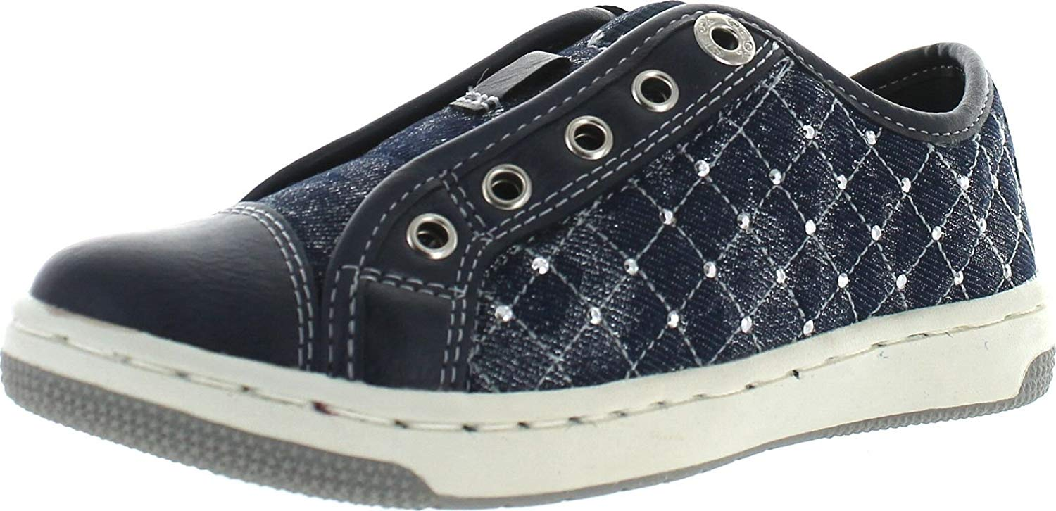 e3f7080cde0edb Buy Geox Girls Jr Creamy High Ankle Trainers With Diamante Trim in ...