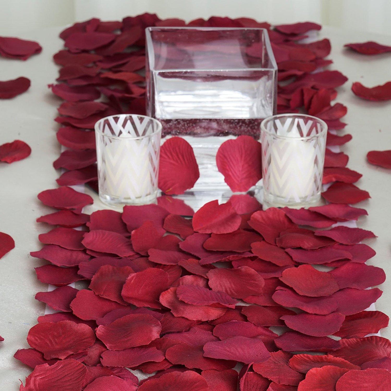 Cheap silk flower petals wholesale find silk flower petals get quotations balsacircle 2000 burgundy silk artificial rose petals wedding ceremony flower scatter tables decorations bulk supplies wholesale izmirmasajfo