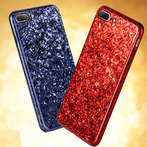 New arrival luxury electroplate ice crack pattern bling bling pc case for iphone 8 7 6 plus 6s