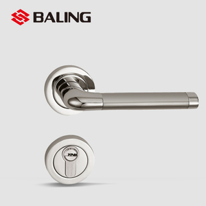 entrance european door handle lock set On A Rose Stain Nickel