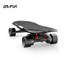 Mini Carver Electric Motorized Skateboard Dual Belt Boosted e Skate Board With Carbon Fiber Deck