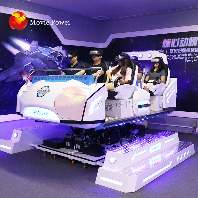 Best Investment 6Dof 6 Player VR Theme Park Device 9D VR Simulator Seat VR Family