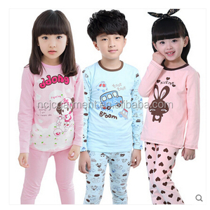 OEM Child cartoon pajamas Boy Girl Dora Pajamas Set Kids blouses and trousers 2-Piece Sleepwear Cotton clothing set