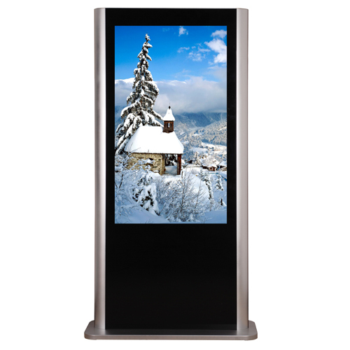 Full HD floor standing netword wifi 3 G lcd built in media player hot venda de publicidade