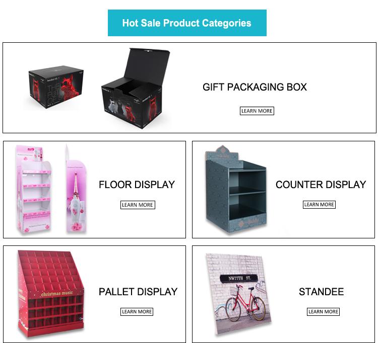 Recycled Cardboard Custom Logo Print Merchandising POP Shipper Display Stand