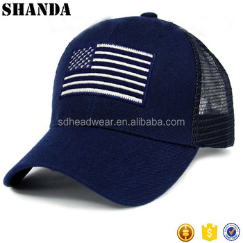 USA Bandiera Americana cappello cap Navy Blu Mesh Snapback berretto Da  Baseball 32b5e5c5c869