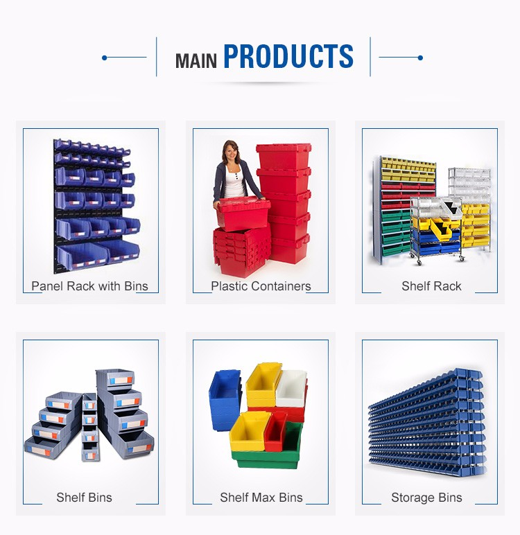 big plastic storage industrial foldable containers