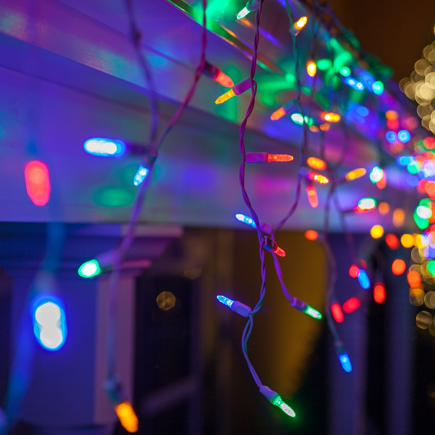 Blue Icicle Lights Outdoor Cheap blue icicle lights outdoor find blue icicle lights outdoor get quotations 70 m5 multicolor led icicle lights 75 white wire outdoor christmas lights outdoor workwithnaturefo