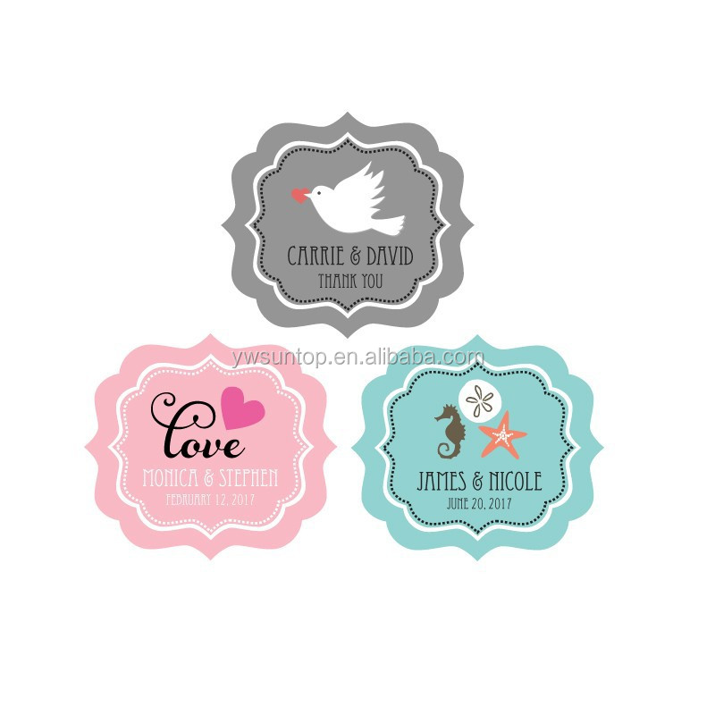 Personalized Wedding Theme Cheap Frame Labels Wedding party decoration