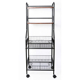 Foldable living room furniture light duty corner iron shelf