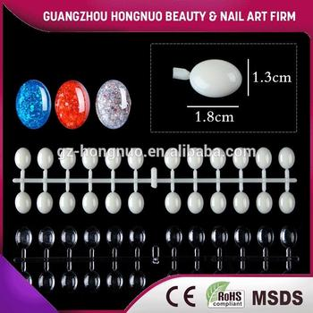 Nail Art 2 Sides UV Gel Polish Colors Showing Display Practice HN1496
