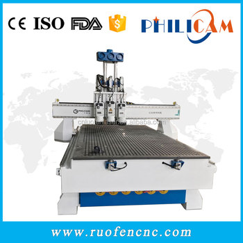 Philicam 1300x2500mm cnc router , competitive price 1325 cnc routers for woodworking