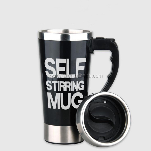 Automatic Coffee Mixing Cup Mug Stainless Steel Self Stirring Electronic