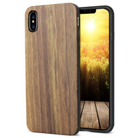 wholesale shock proof slim real smartphone wood case for iphone xs max wood phone case