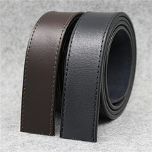 LQbelt Factory Pure Cowhide Leather Belt Strap Men's Automatic Buckle Belt Without Buckles Ratchet Belt Strap