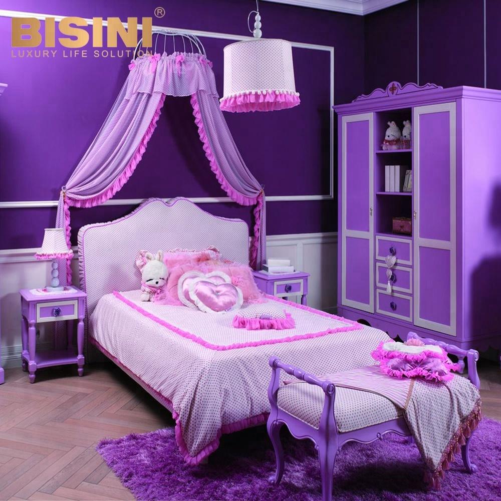 Bisini Modern Style Purple Kid Bed With Children,Wooden Kids Bedroom  Furniture (bf07-70173) - Buy Children Wooden Bed,Kids Beds,Children Modern  ...
