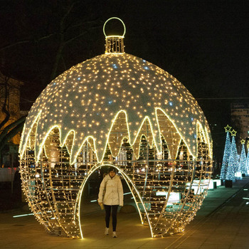 Commercial Christmas Lights.Outdoor Ip65 Big Luminous Giant Led Christmas Bauble For Commercial Christmas Light Displays Buy Big Luminous Bauble Giant Led Christmas
