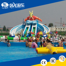 2015 Popular giant inflatable water park slides floating inflatable boat swimming pool on sale !!!