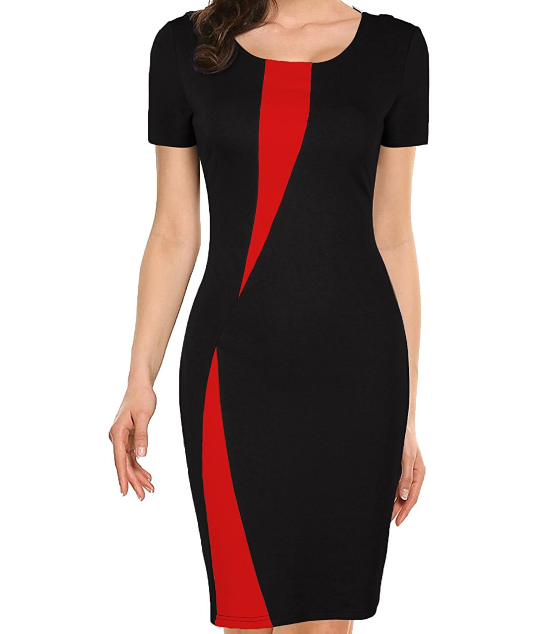 Latest Vintage Dot Wear To Work Office Casual Sleeveless Knee Length Women Pencil Dress
