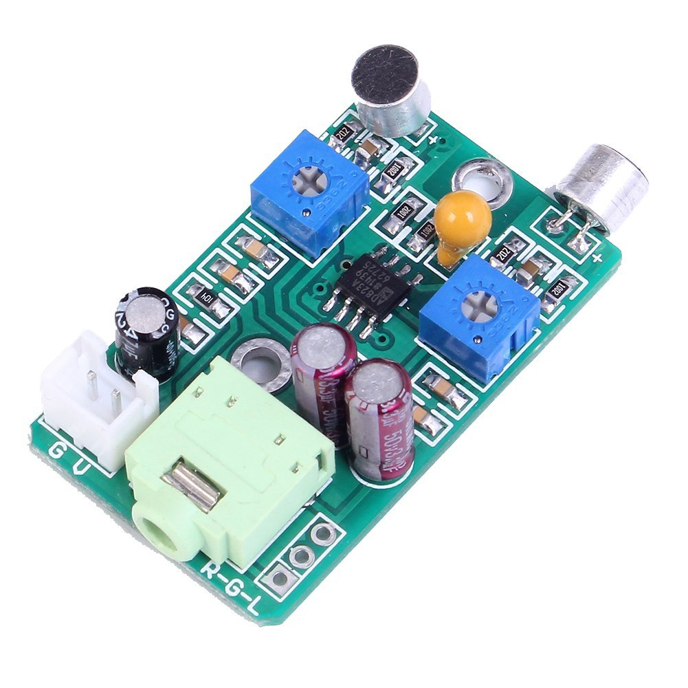 Cheap Electret Mic Amplifier Find Deals On Stereo Preamplifier Schematic Design Get Quotations Icstation Dual Channel Microphone Module Gain Adjustable