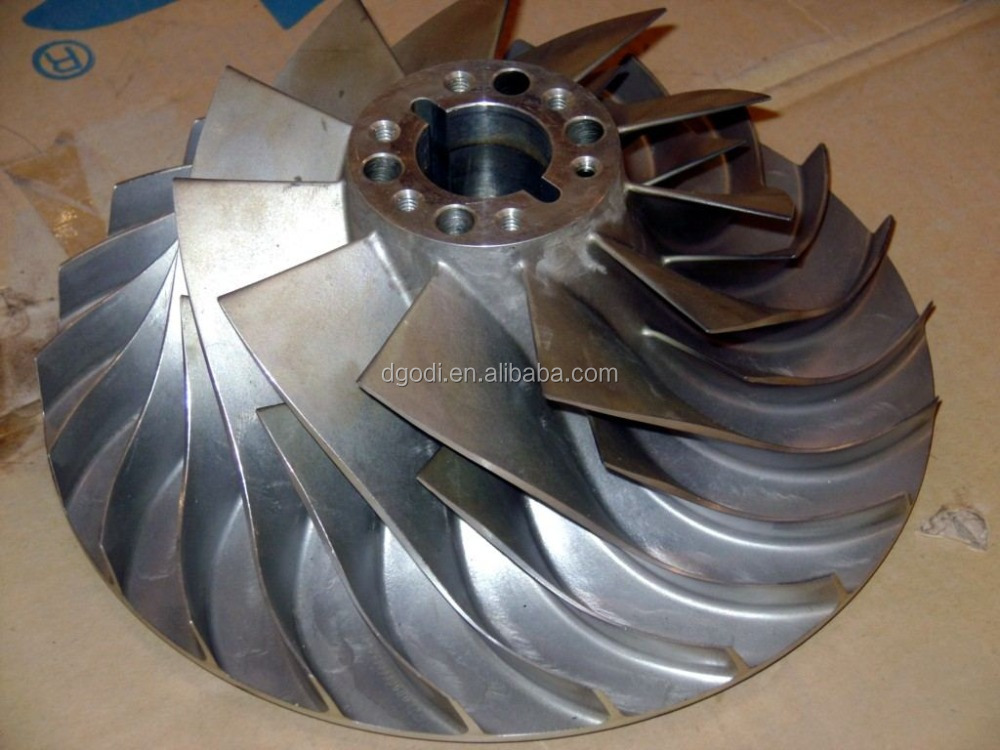 Anium Jet Ski Impeller Produced By 5 Axis Cnc Machining