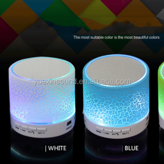 Colorful Mini Led Speaker With LED Light For Playing Music