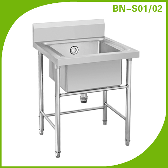 Cosbao Stainless Steel Single Sink Bench Stand (BN S01, BN S02)